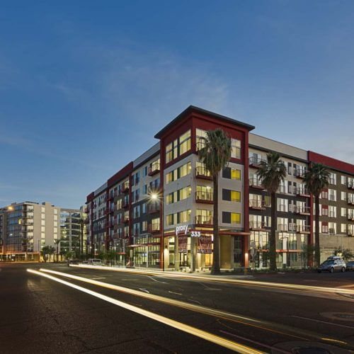 Night Photo of Completed Building by Tilton Development-Proxy 333 in Phoenix, AZ