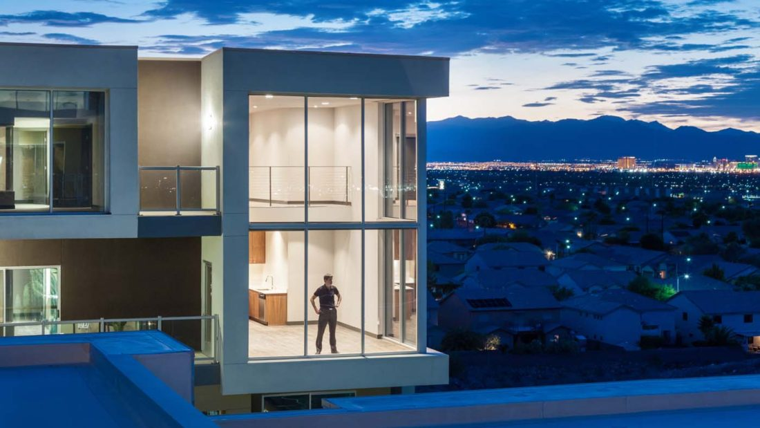 Man in Luxury Apartment at Vantage Lofts and Flats by Tilton Development